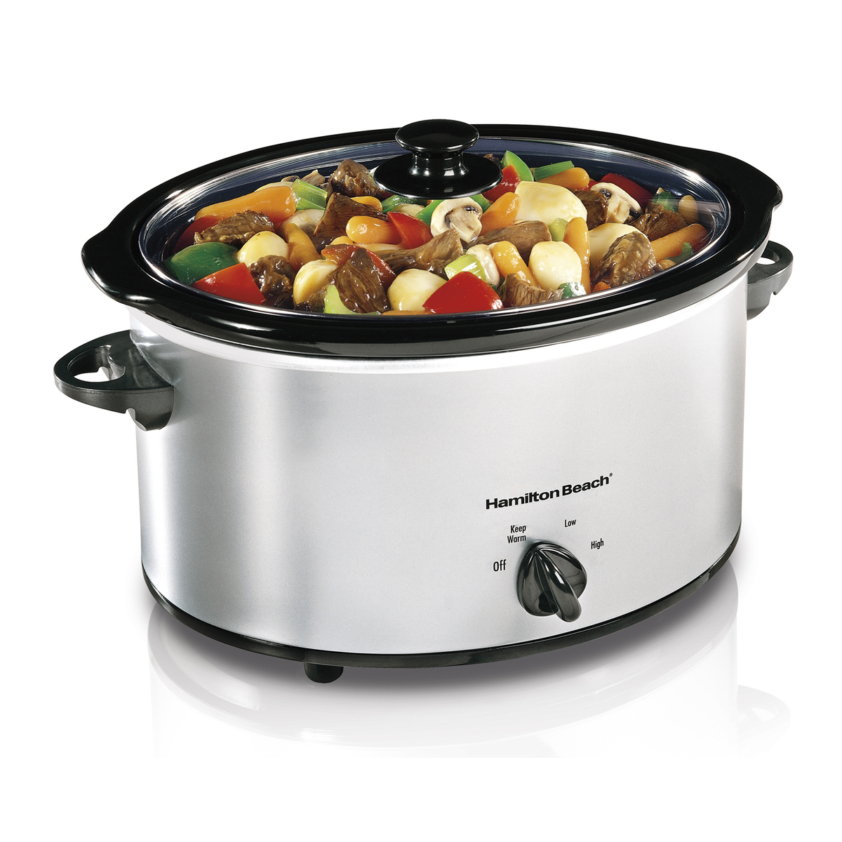 Classic Chrome 5 Quart Slow Cooker (33550)