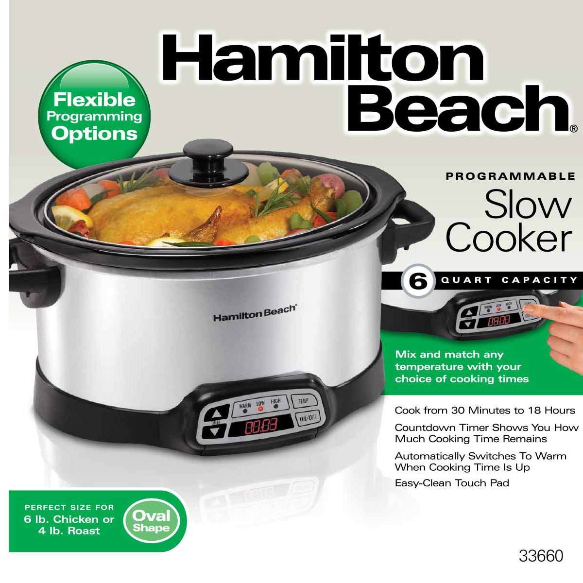 Programmable 6 Quart Slow Cooker (33660)