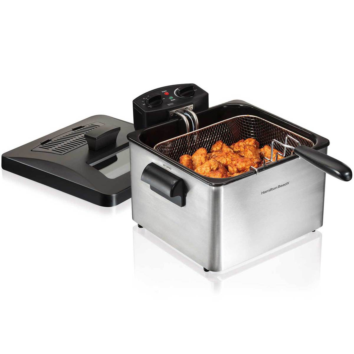 Deep Fryer, 19 Cup Oil Capacity Professional-Style with Double Basket (35034)