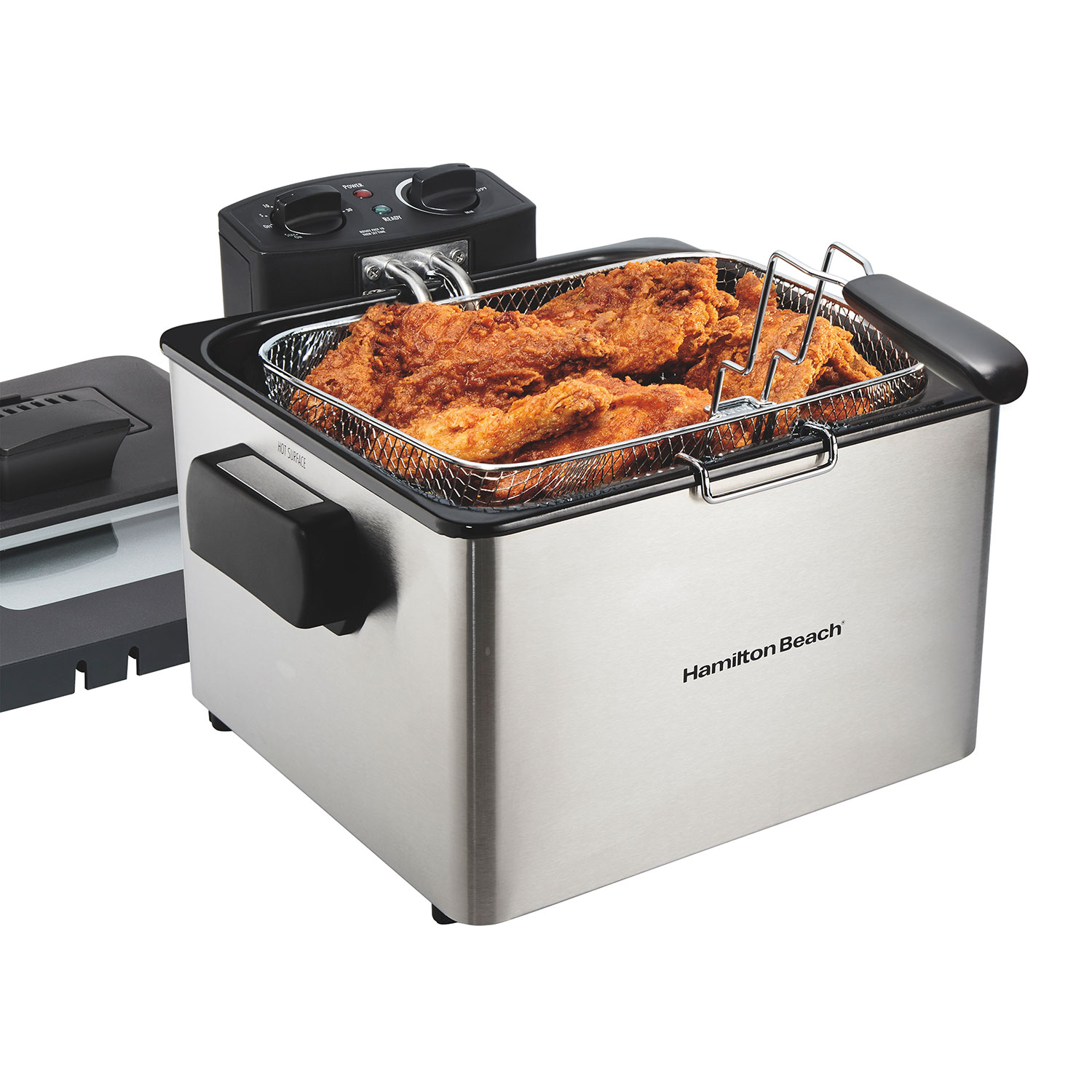 Deep Fryer, 19 Cup Oil Capacity Professional-Style with Adjustable Temperature & Timer (35035)