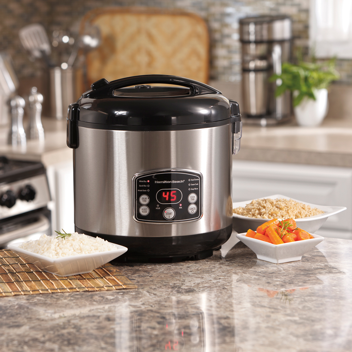 Digital Simplicity™ 4-20 Cup Rice Cooker and Steamer (37541)