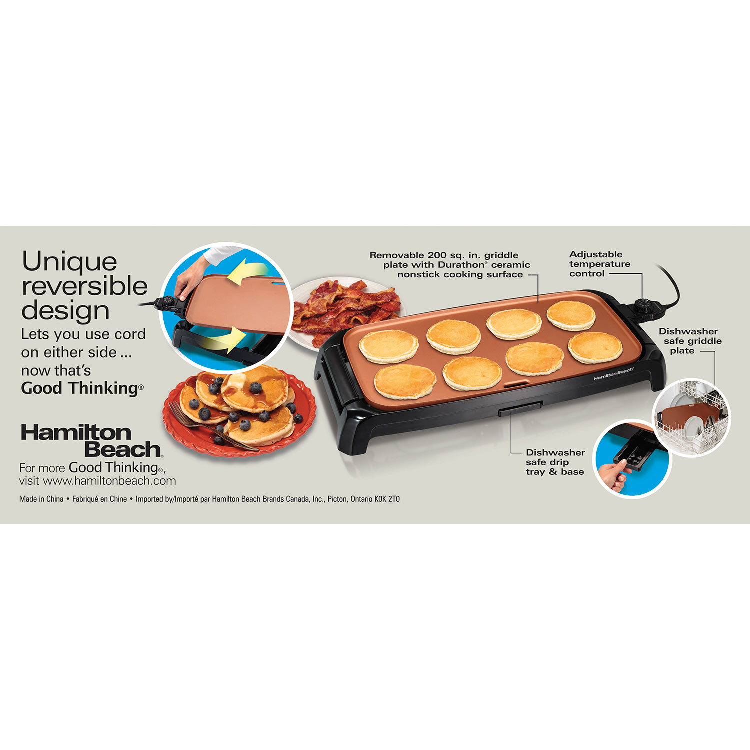 Reversible Durathon® Ceramic Griddle (38519R)