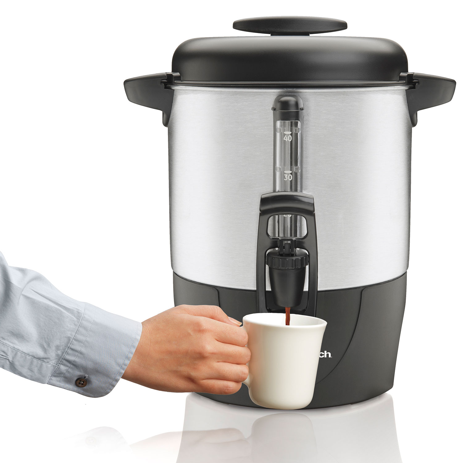 40-Cup Coffee Urn, Black & Stainless (40514R)