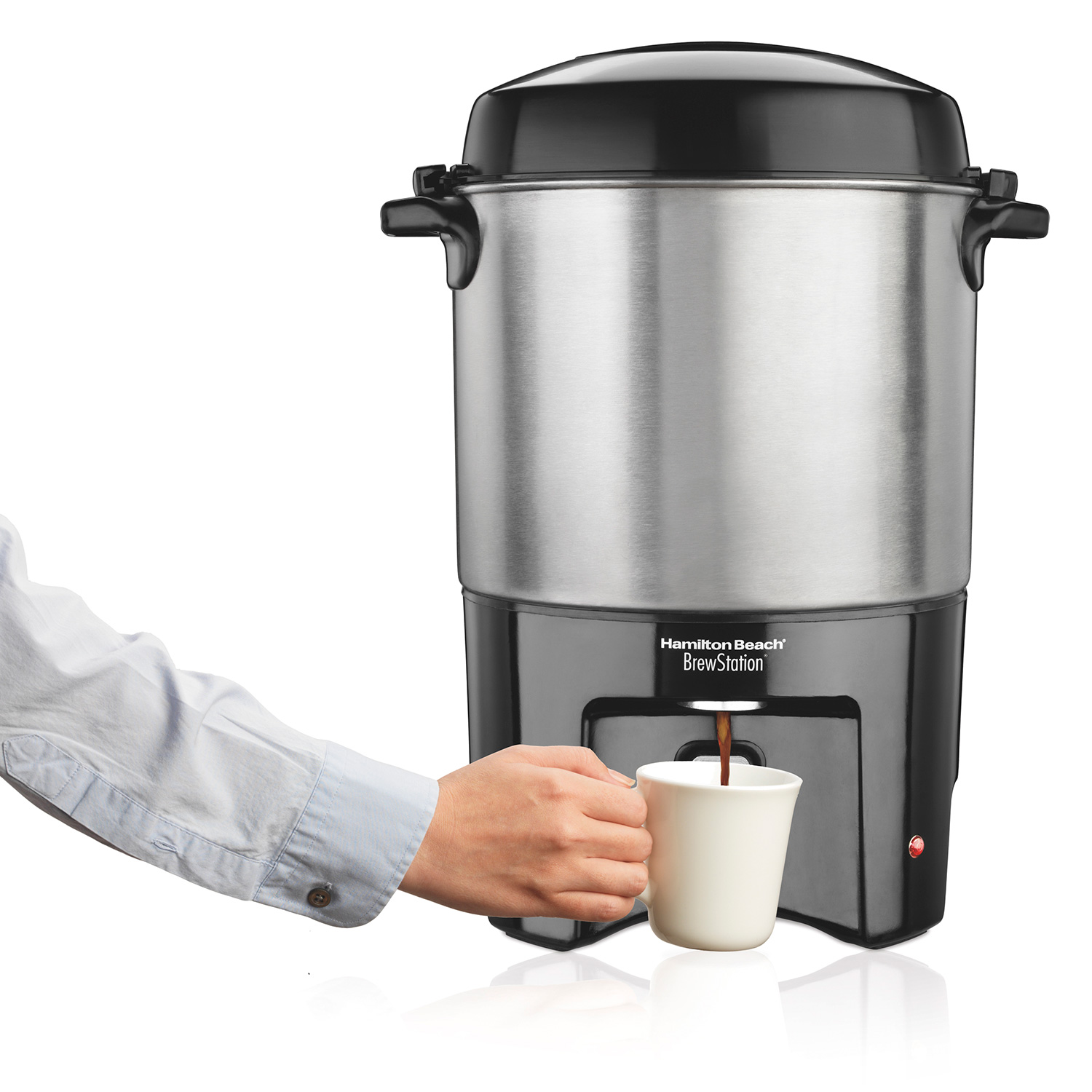 BrewStation® 40 Cup Coffee Urn, Black & Stainless (40540R)