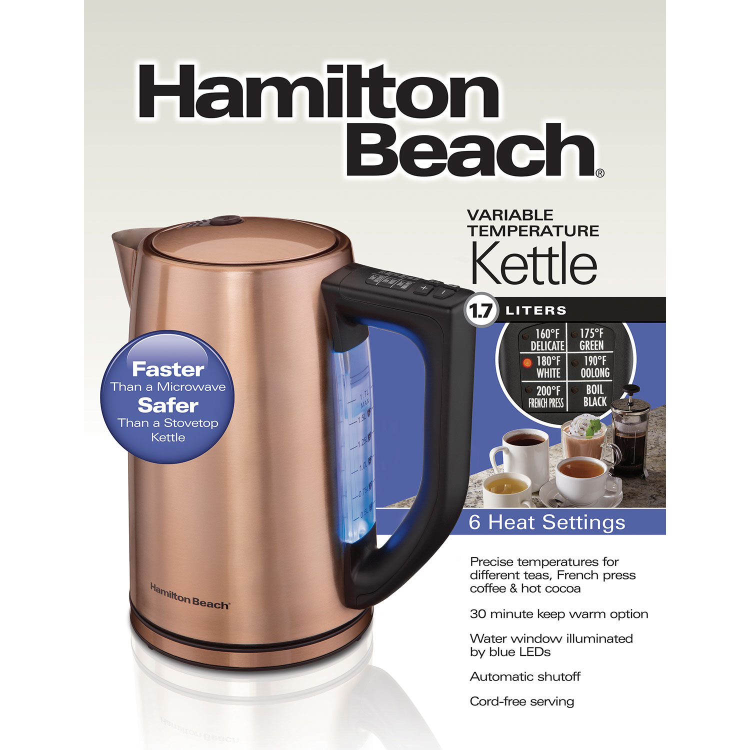 Copper Finish 1.7 Liter Variable Temperature Kettle (41026)