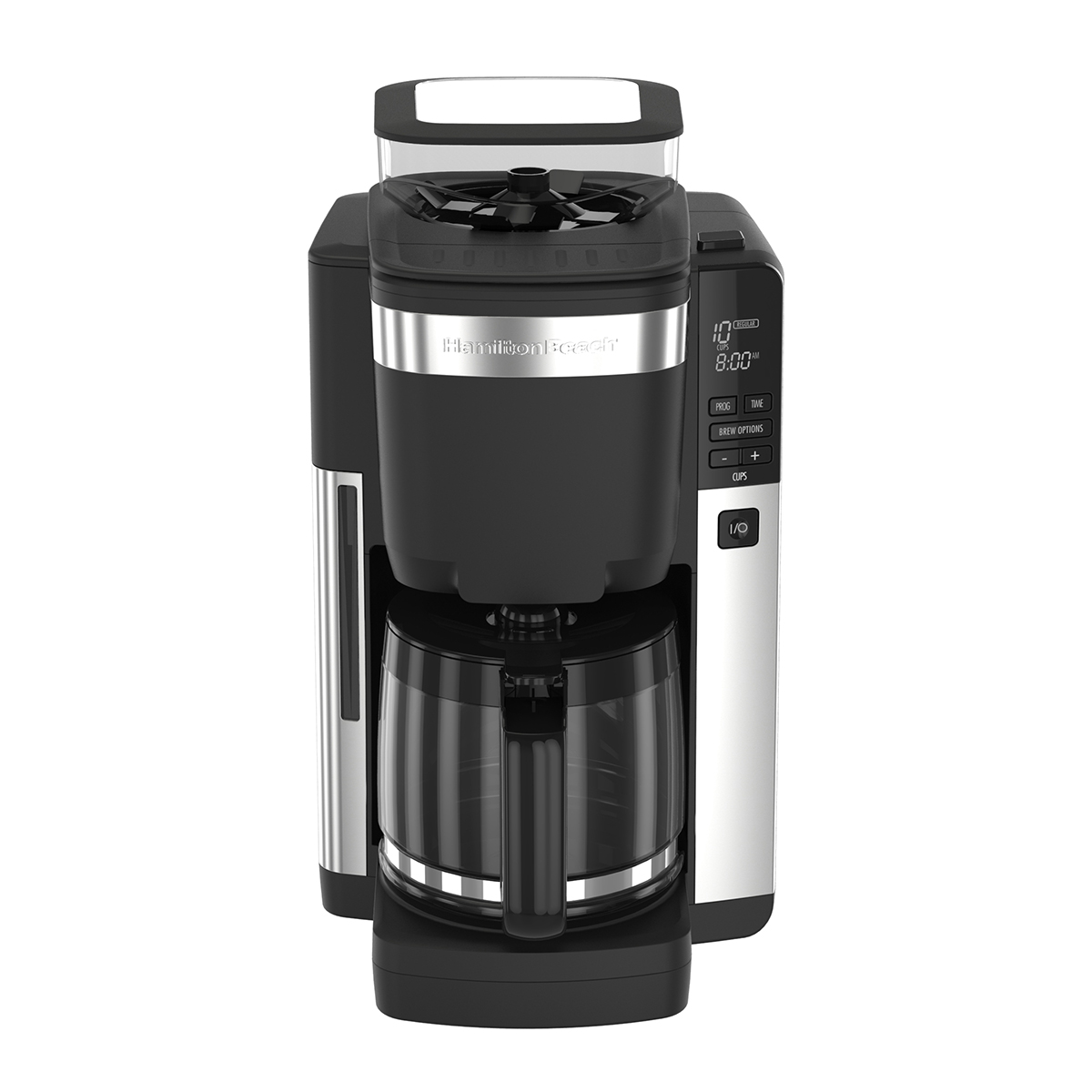 12 Cup Programmable Coffee Maker with Automatic Grounds Dispenser (45400)