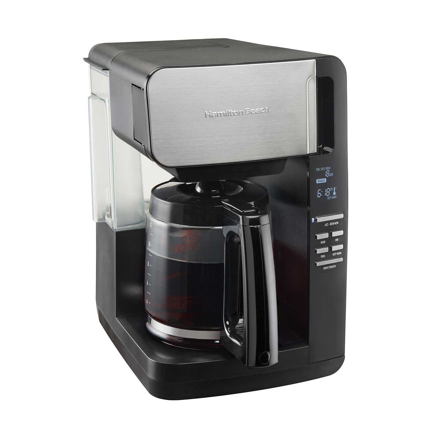 12-Cup Programmable Ultra Coffee Maker with Easy Access, Black & Stainless (46203)
