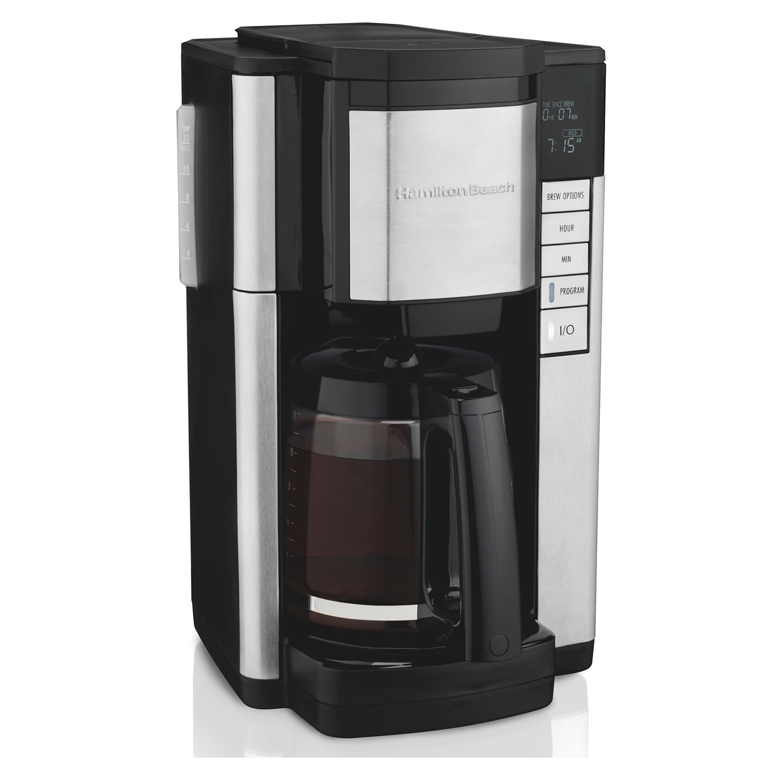 Front-Fill<sup>®</sup> 12 Cup Programmable Coffee Maker Black & Stainless (46381)
