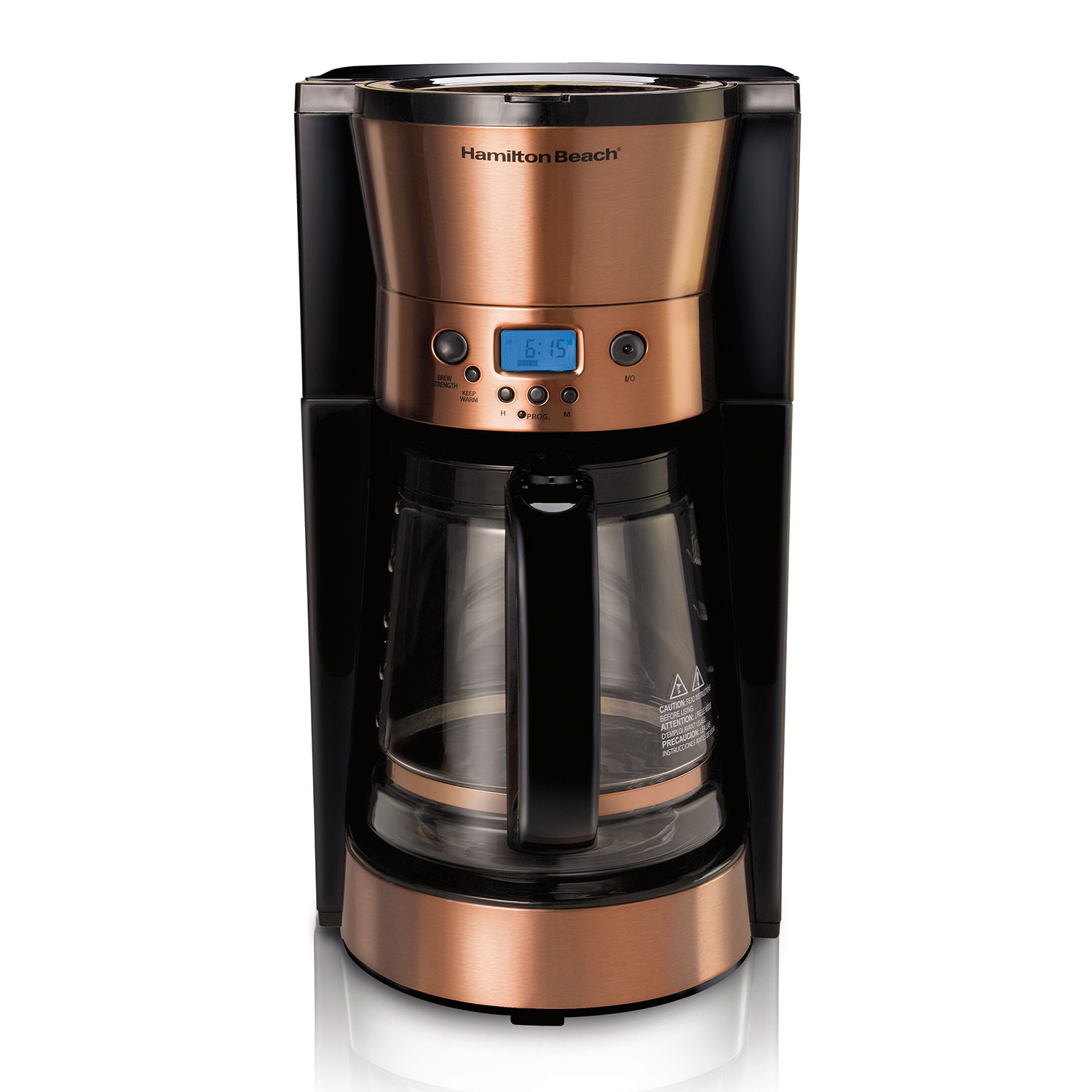 Hamilton Beach 12-Cup Programmable Coffee Maker with Copper Accents - 46898