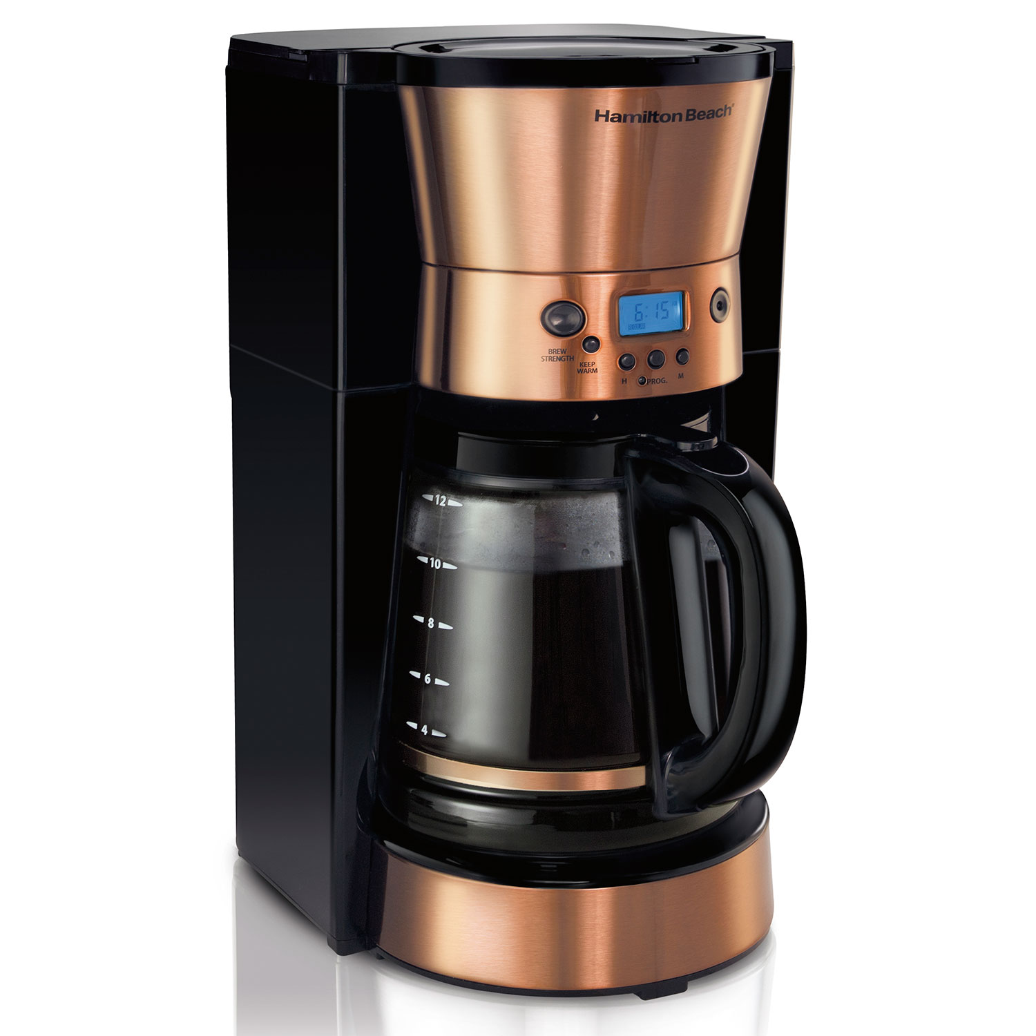 12-Cup FrontFill™ Programmable Coffee Maker with Copper Accents (46898)