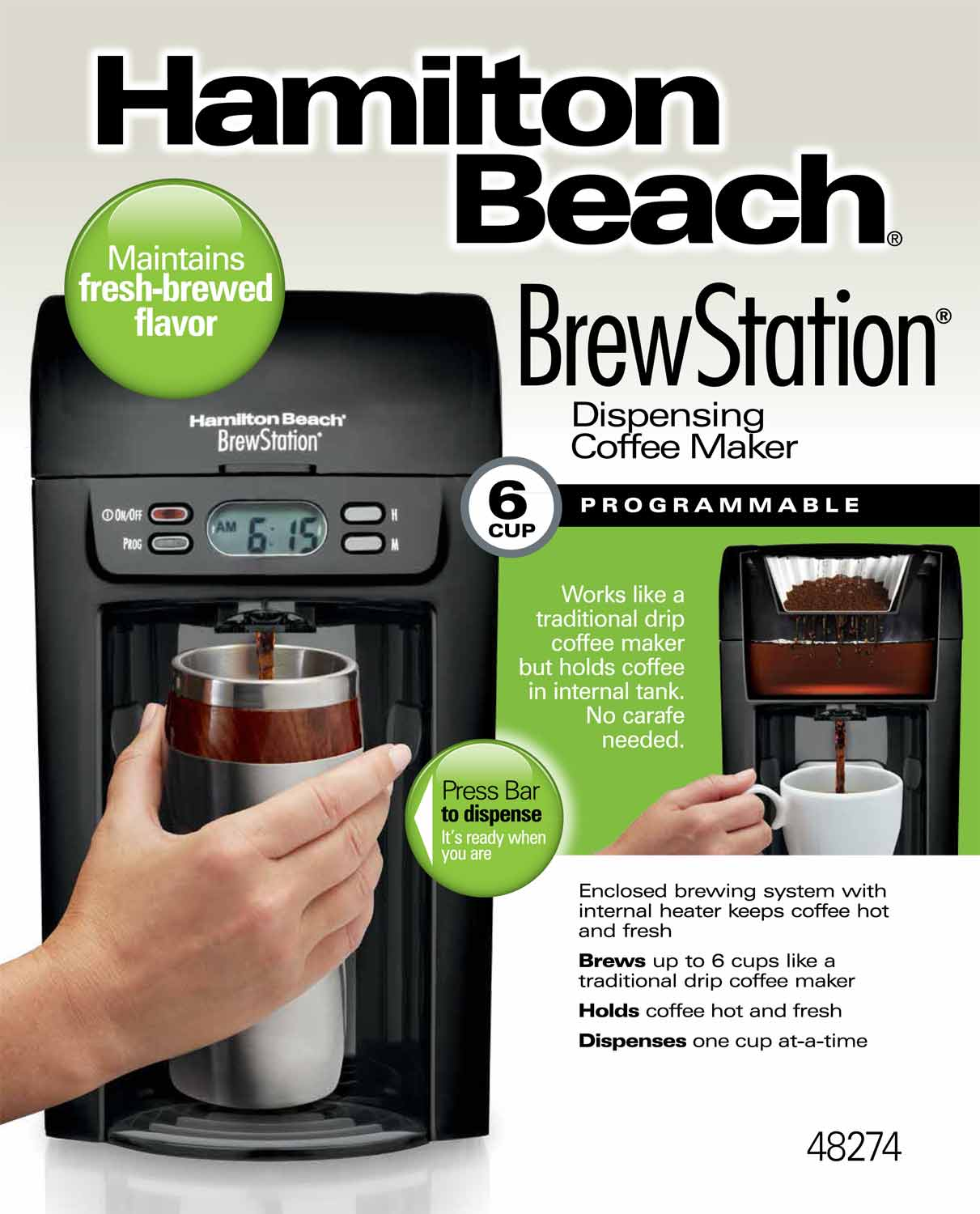 BrewStation® 6-Cup Coffee Maker, Black (48274)