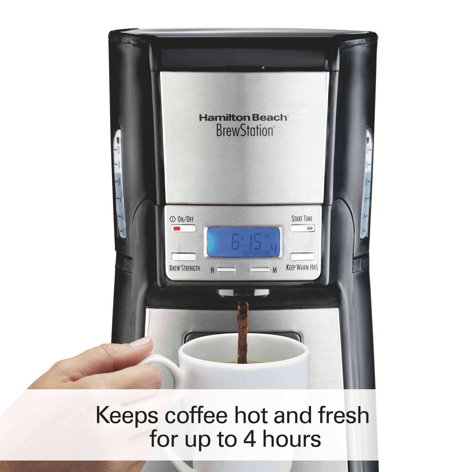 BrewStation® 12-Cup Coffee Maker, Black & Stainless (48464)
