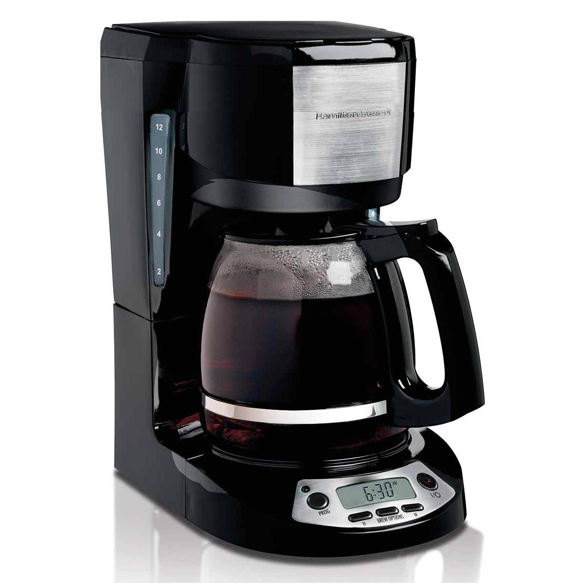 Hamilton Beach Coffee Maker 12 Cup Programmable With 3 Settings Black 49615