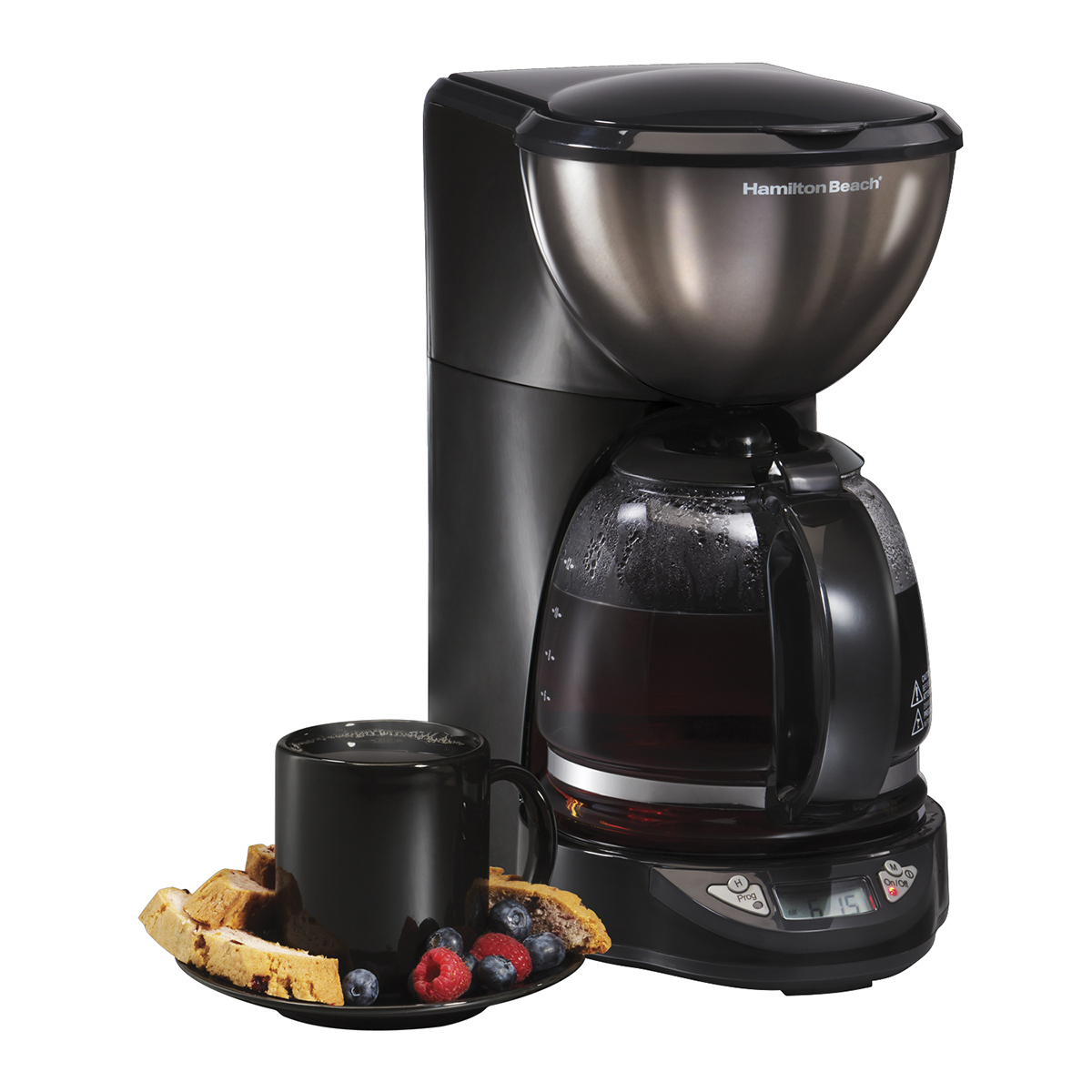 Black Ice Metal Collection 12 Cup Coffeemaker (49757)