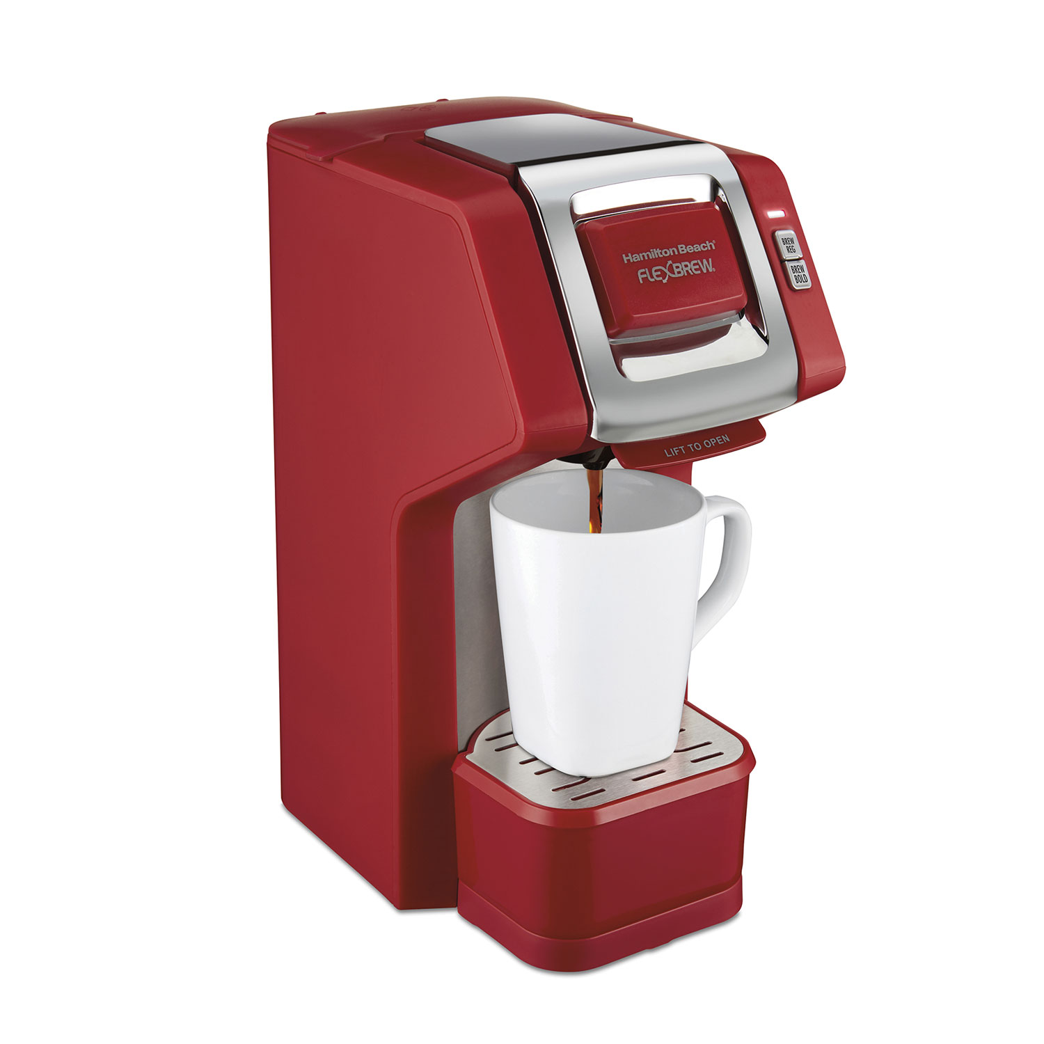 FlexBrew® Single-Serve Coffee Maker Red, (49945)