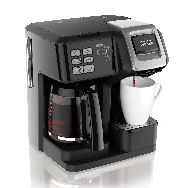 FlexBrew® 2-Way Coffee Maker with 12-Cup Carafe & Pod Brewer, Black (49954)