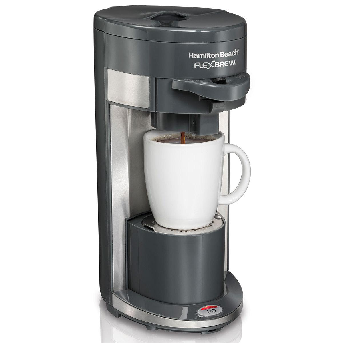 hamilton beach flexbrew coffee maker single serve gray 49963. Black Bedroom Furniture Sets. Home Design Ideas