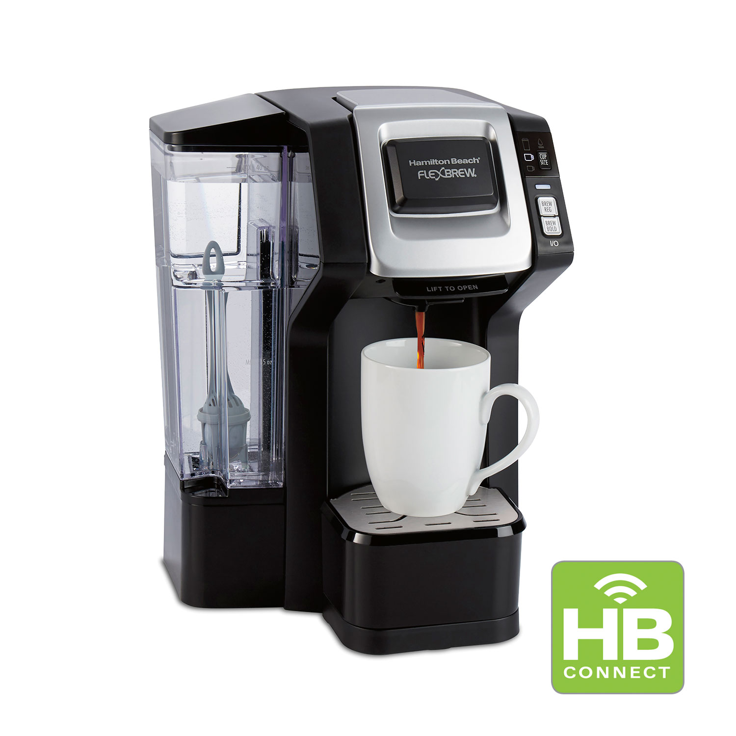 FlexBrew® WiFi-Connected Single-Serve Coffee Maker with Removable Water Reservoir (49968)