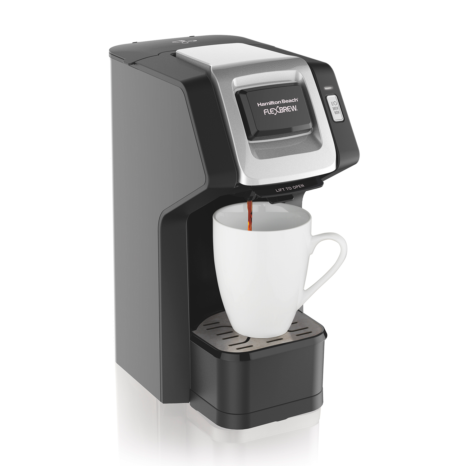 FlexBrew® Single-Serve Coffee Maker, Black & Silver (49974)