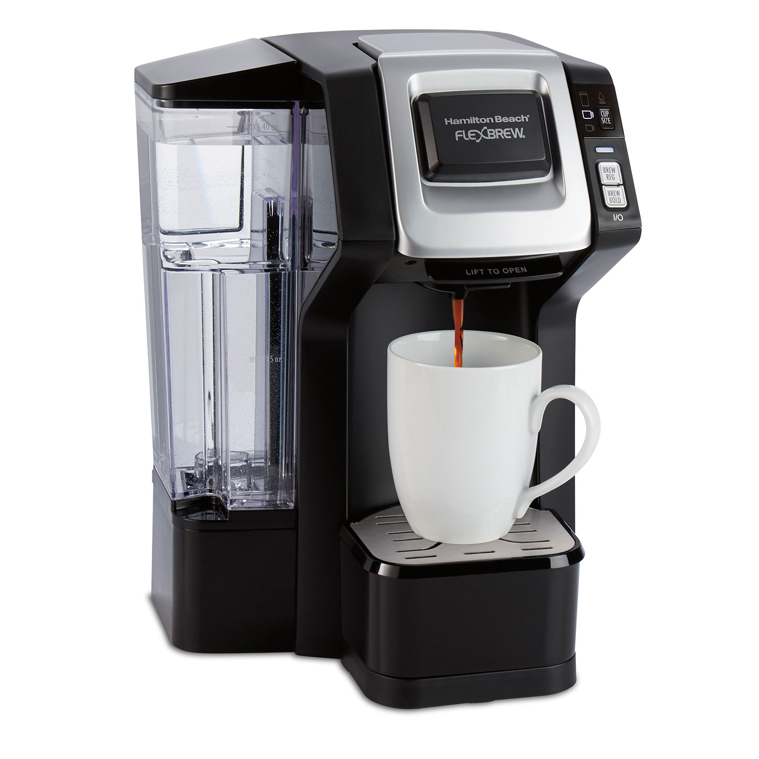 FlexBrew® Coffee Maker Single-Serve with Removable Water Reservoir, Black (49975)