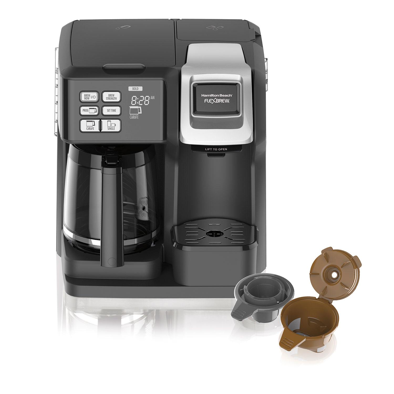 Hamilton Beach Flexbrew 2 Way Coffee Maker With 12 Cup Carafe Pod