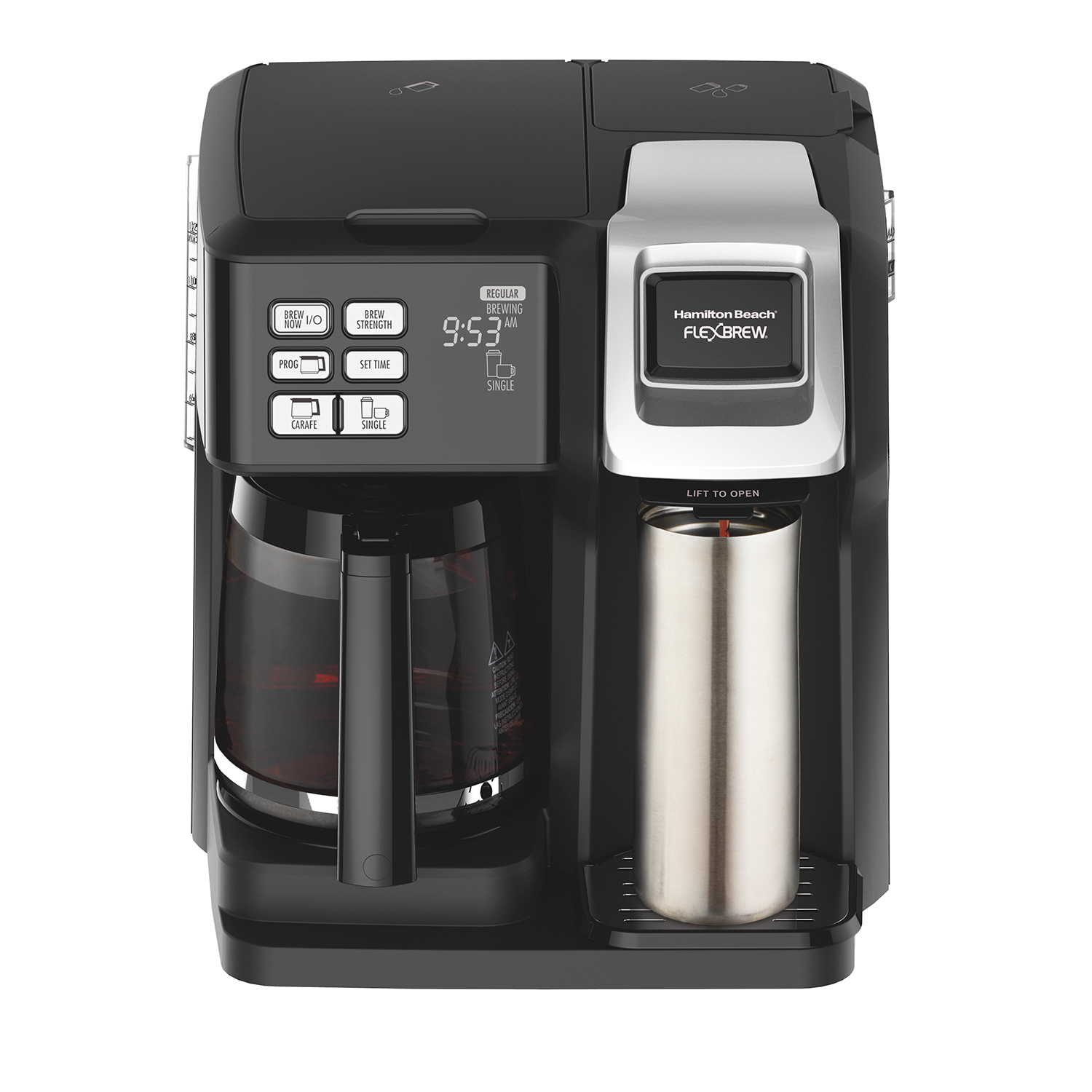 FlexBrew® 2-Way Coffee Maker with 12-Cup Carafe & Pod Brewer, Black (49976)