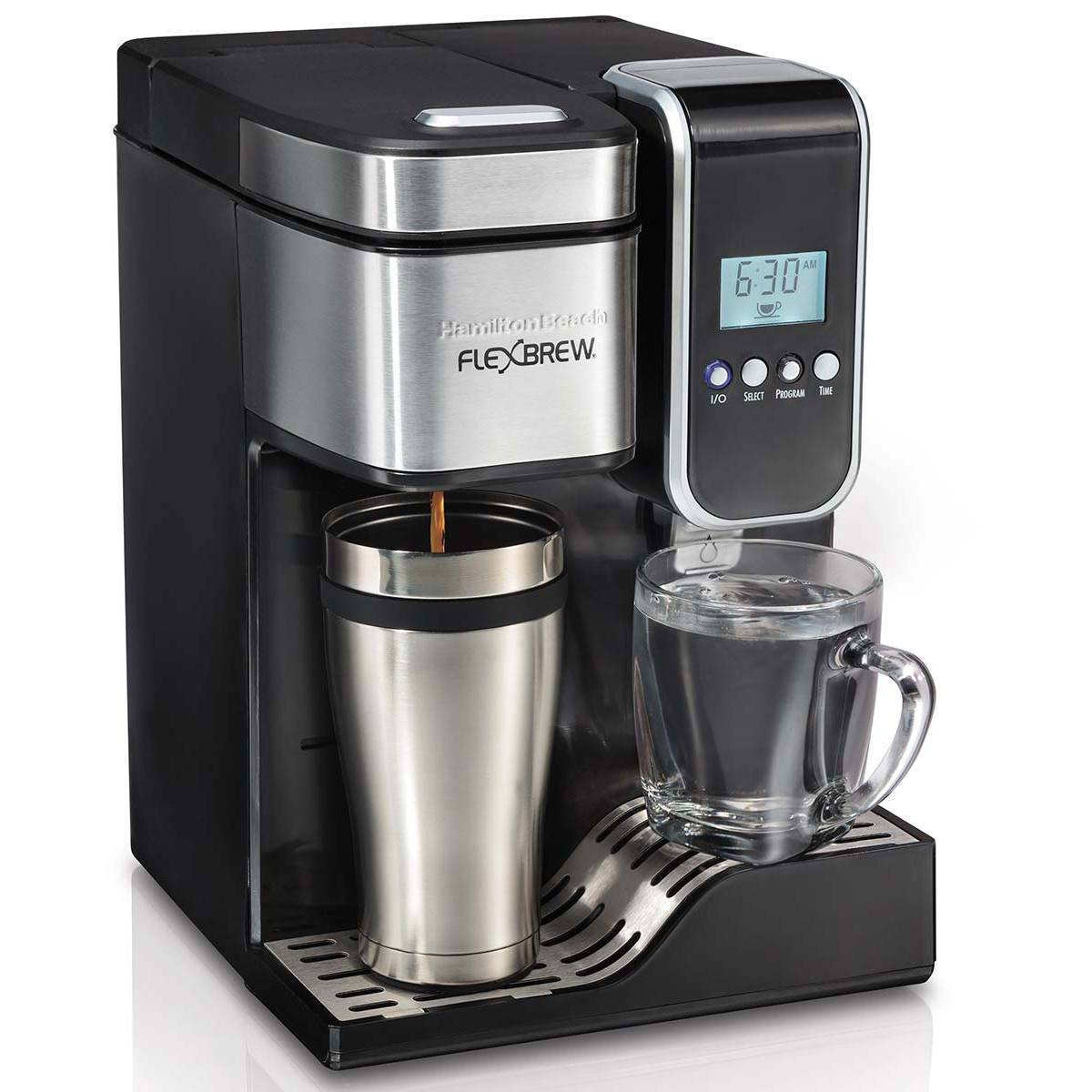 Hamilton Beach Flexbrew Programmable Single Serve Coffee Maker 49988