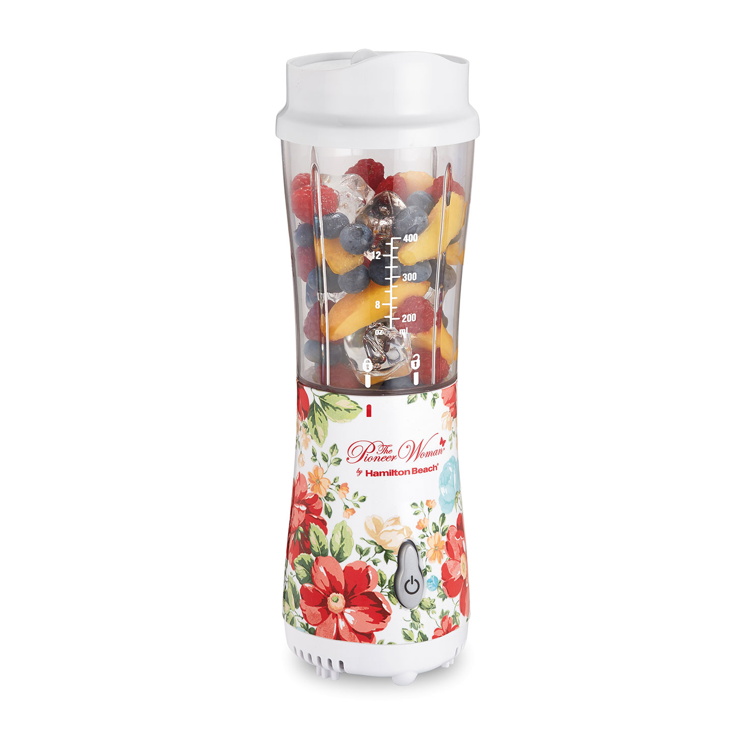 The Pioneer Woman Vintage Floral Personal Blender with Travel Lid by Hamilton Beach (51170)