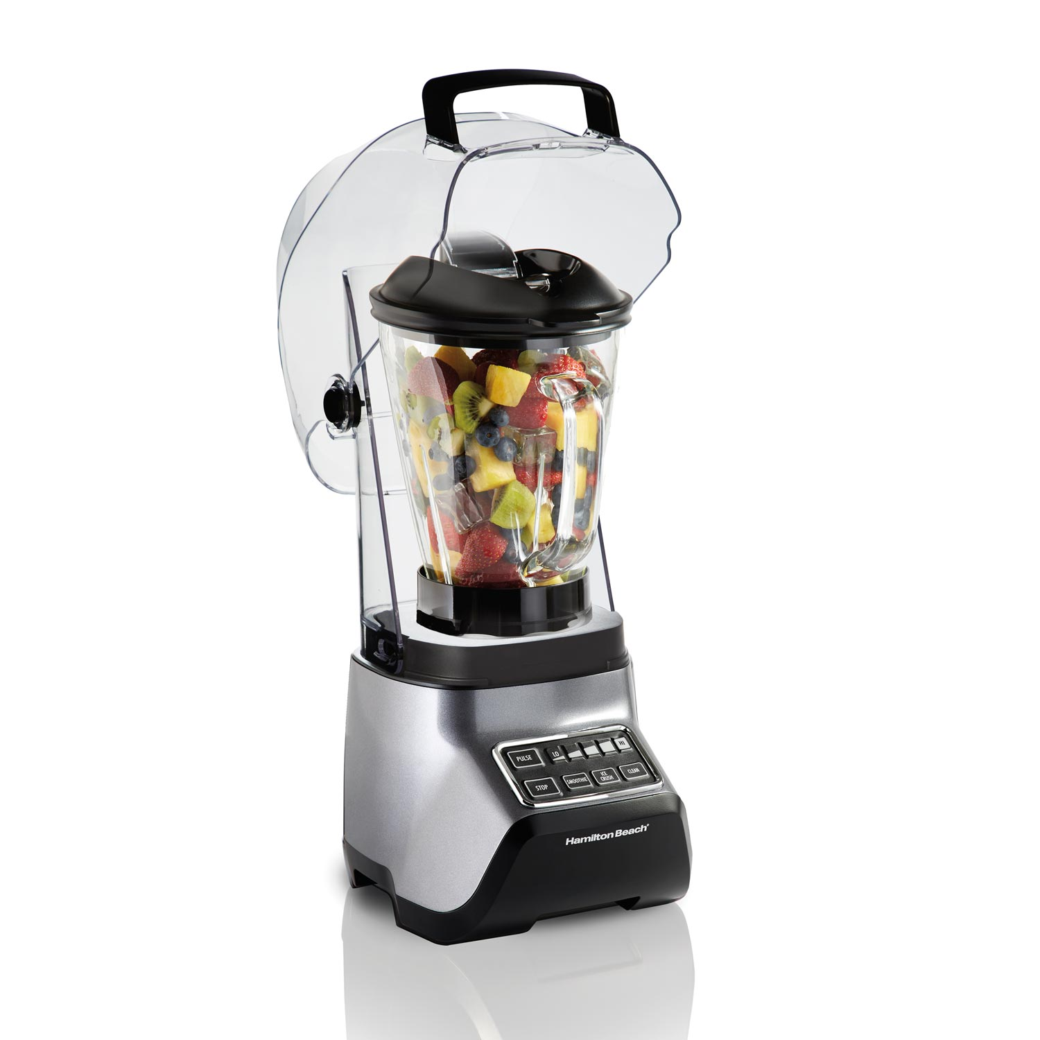 53602 Sound Shield 950 with 52 oz MultiBlend™ glass jar provides versatile blending for smoothies, icy drinks, salsas, soups, and more.
