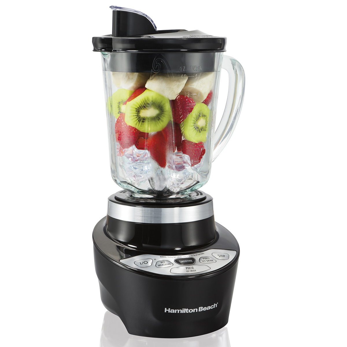 Smoothie Smart™ Blender with Pour Spout & 40oz Glass Jar, 700W Black (56206)