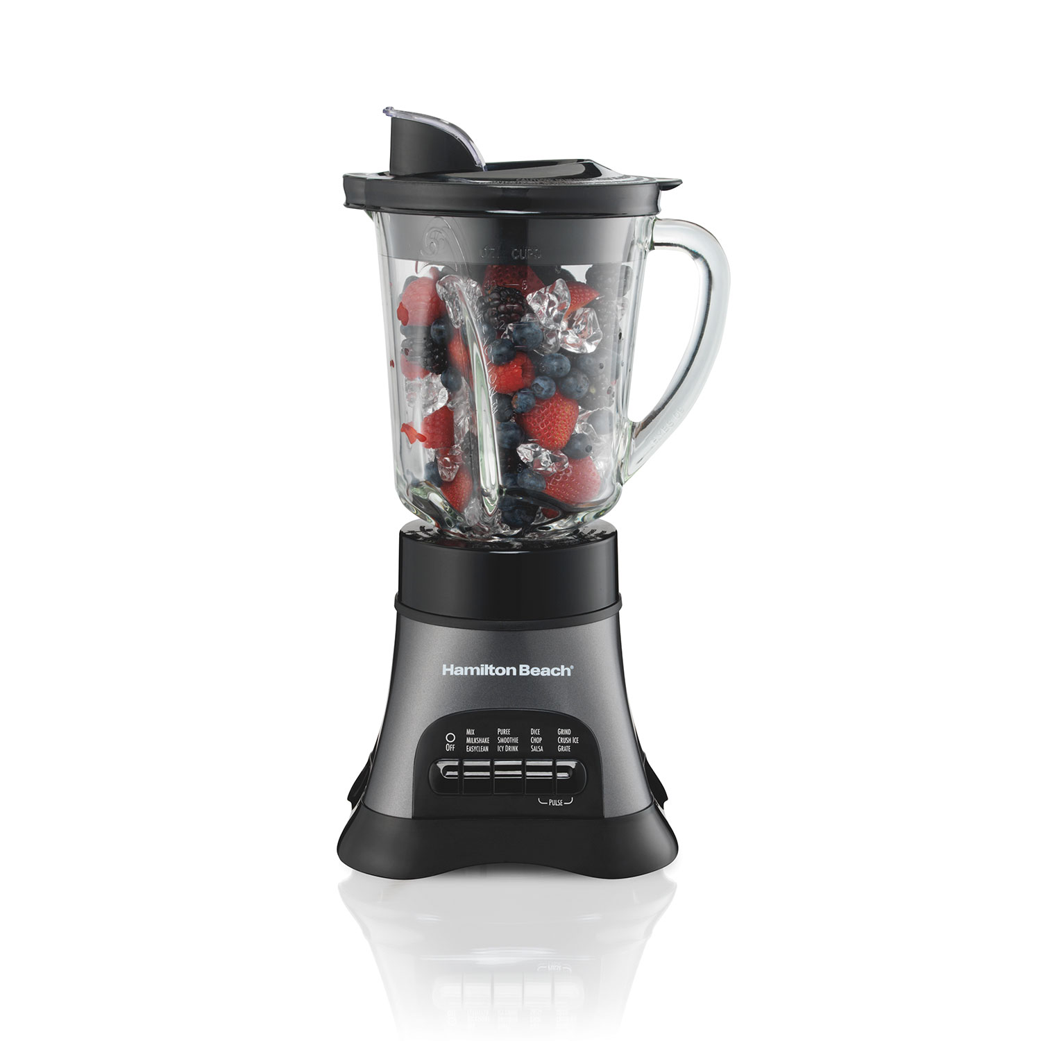 Wave Crusher® Multi-Function Blender/Chopper with 40oz Glass Jar, 700W Gray (58164)