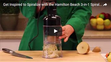 3-in-1 Electric Spiralizer demo video