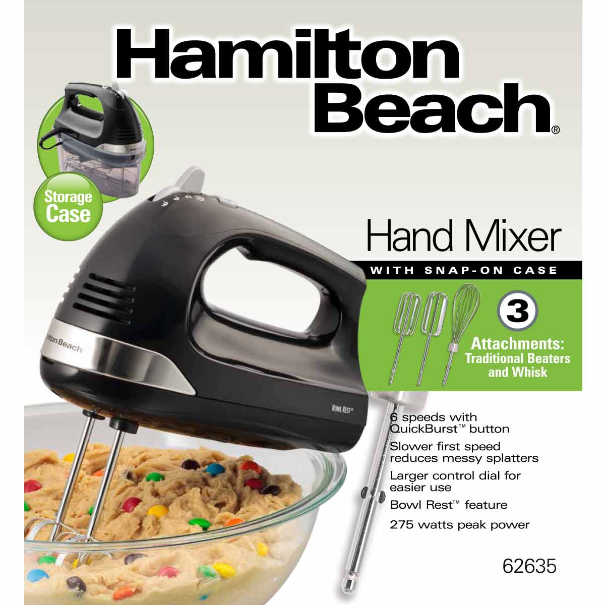 Hand Mixer with Snap-On Case (62635)