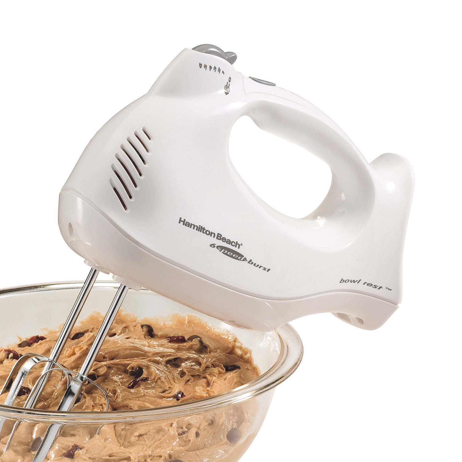Hand Mixer with Snap-On Case (White) (62669)