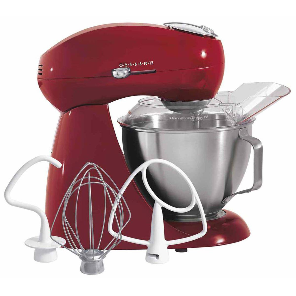 Eclectrics® Carmine Red All-Metal Stand Mixer (63232)