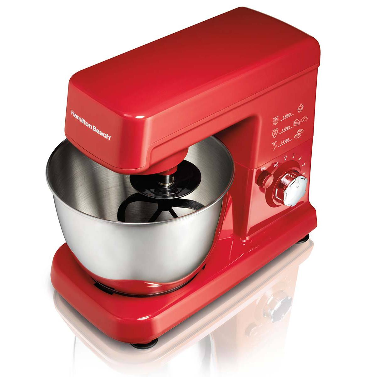 6 Speed Stand Mixer Red, 63328)