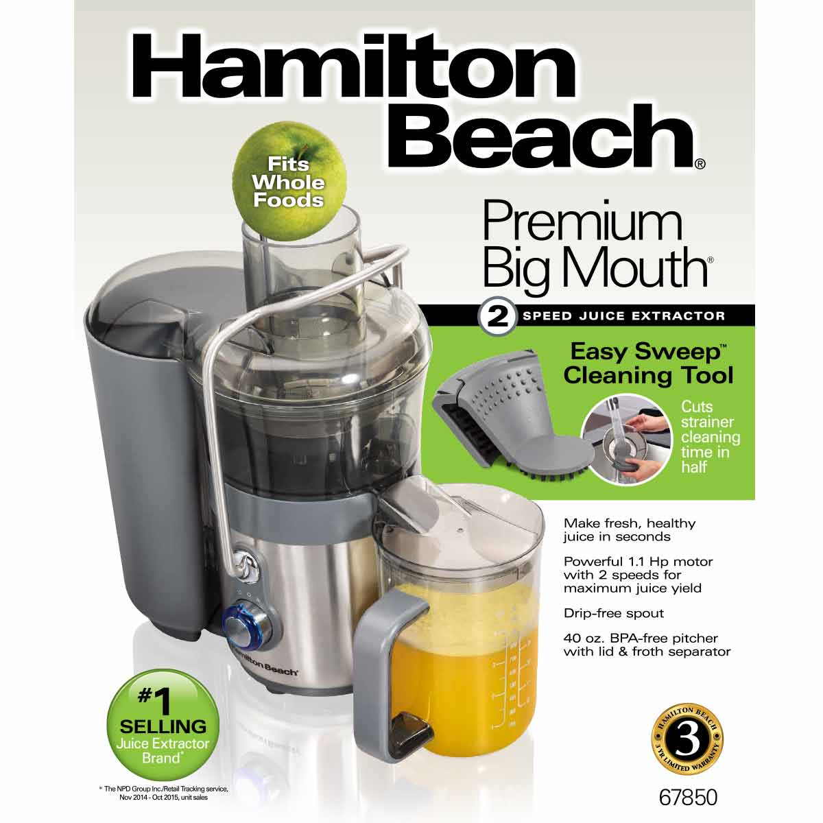 easy clean big mouth 2 speed juice extractor 67850