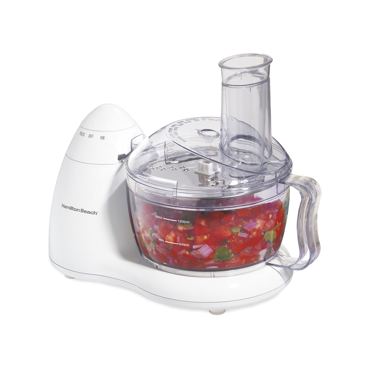 Food Processor, 8 Cup Bowl - White (70450)