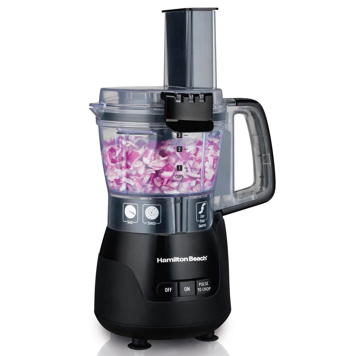 4-Cup Stack & Snap™ Compact Food Processor with Blending, Black (70510)