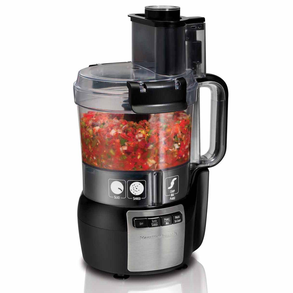 10-Cup Stack & Snap™ Food Processor with Big Mouth®, Black & Stainless (70721)