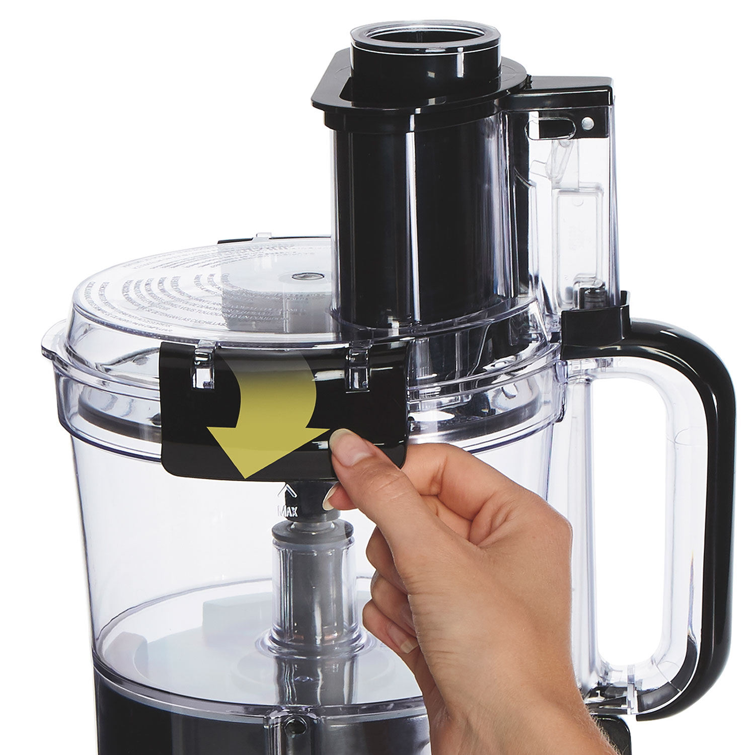 Hamilton Beach 10-Cup Stack & Snap™ Food Processor with Big Mouth®, Black & Stainless - 70723