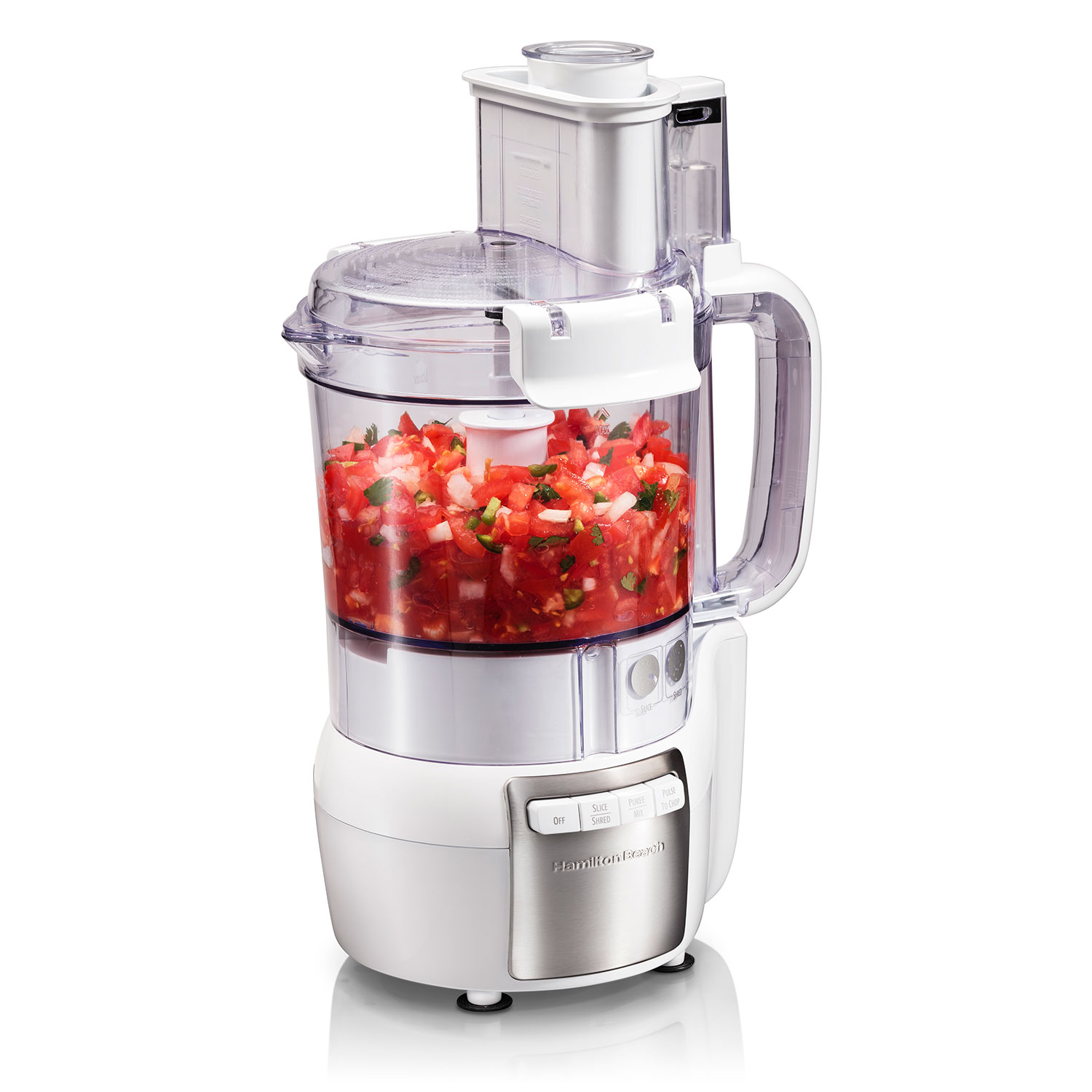 12 Cup Stack & Snap™ Food Processor, White (70729)