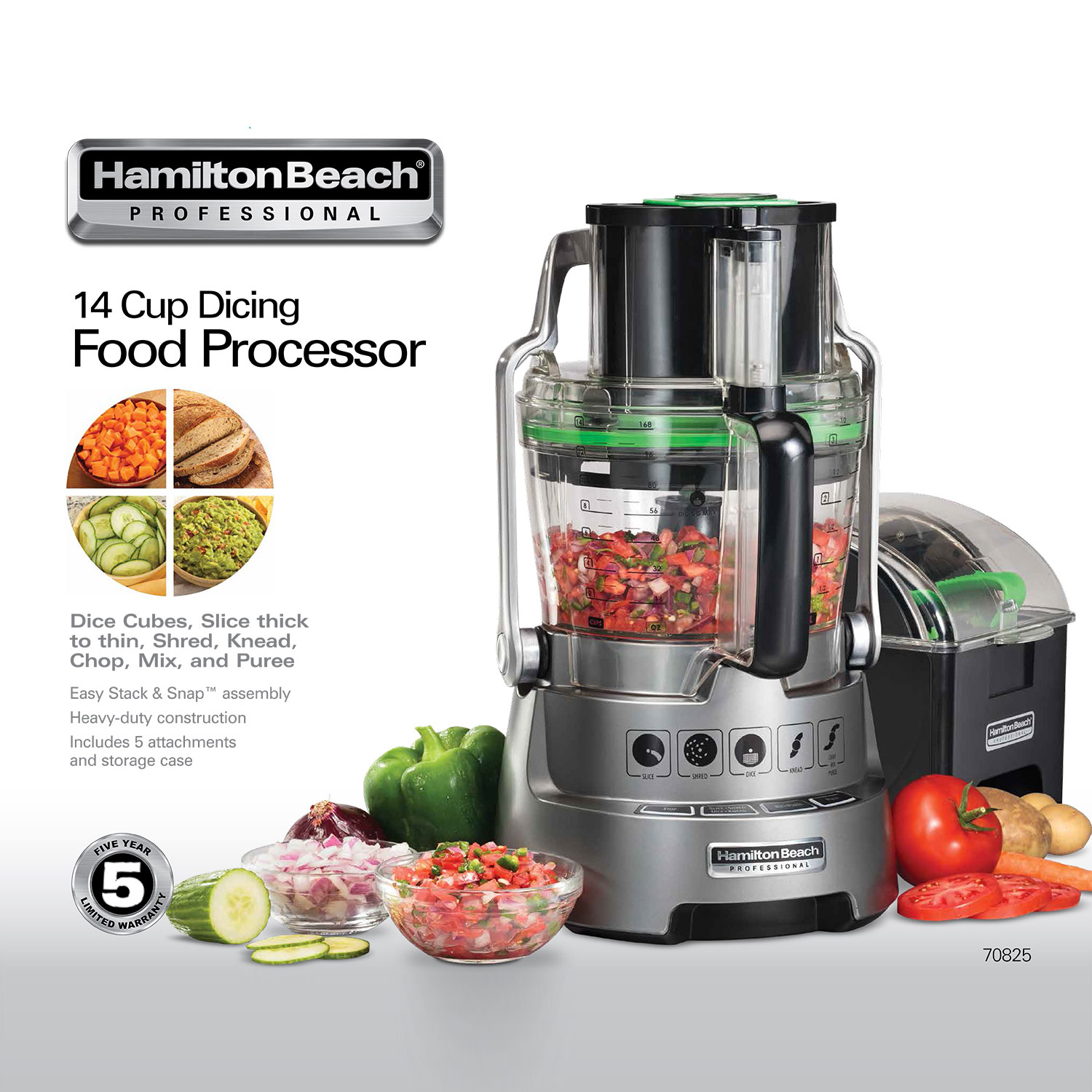 Hamilton Beach® Professional 14 Cup Dicing Food Processor (70825)