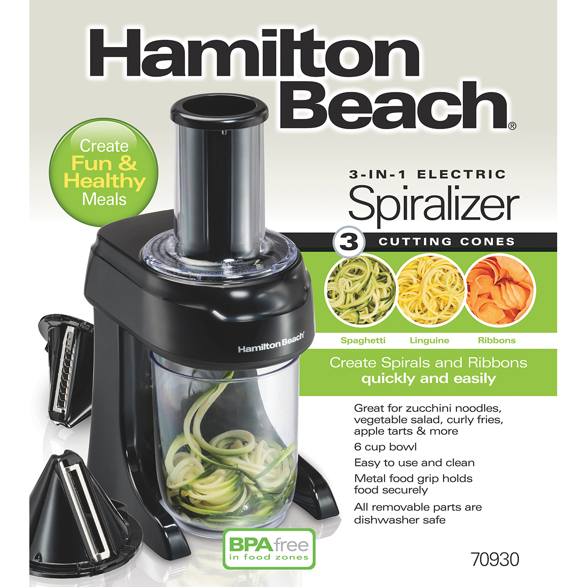 3-in-1 Electric Spiralizer (70930)