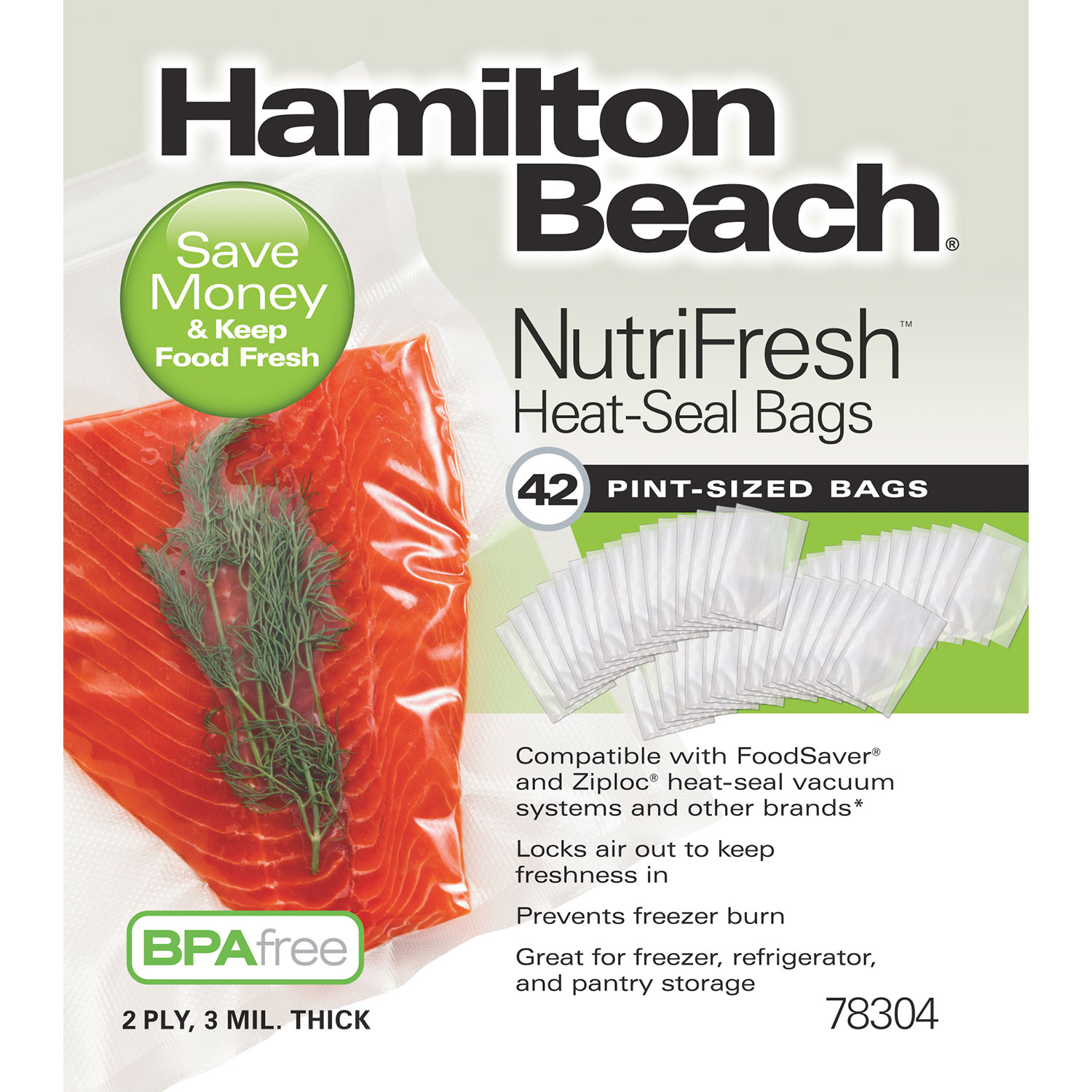 NutriFresh™ Pint Heat Seal Bags, 42 Count (78304)