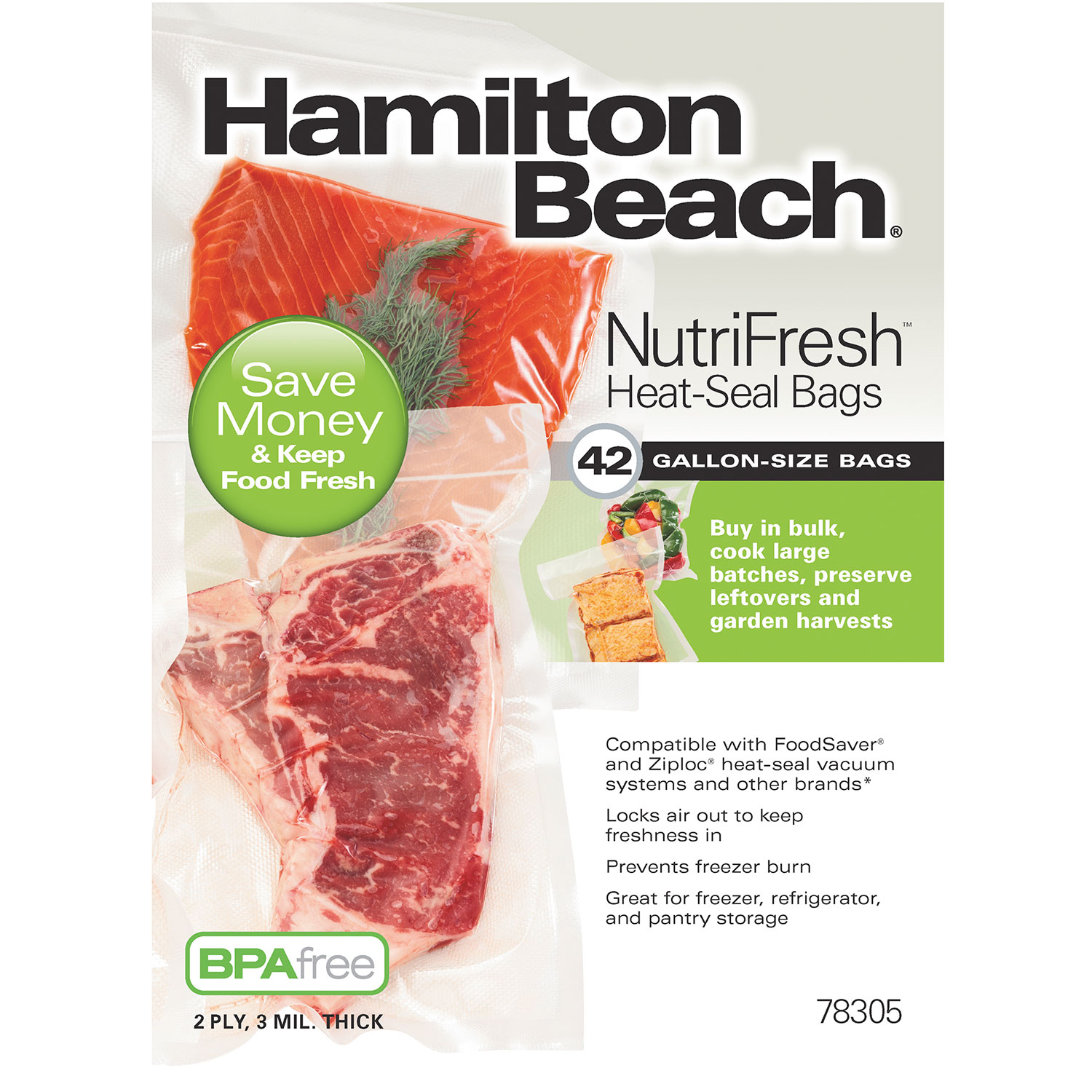 NutriFresh™ Vacuum Sealer Bags (78305)