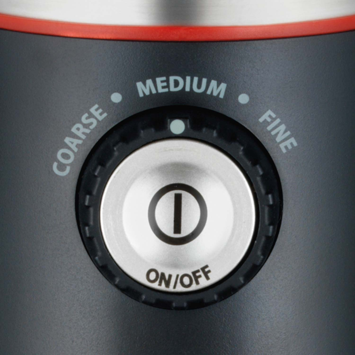 The Custom Grind Coffee Grinder features multiple grind settings so you can customize your coffee precisely.