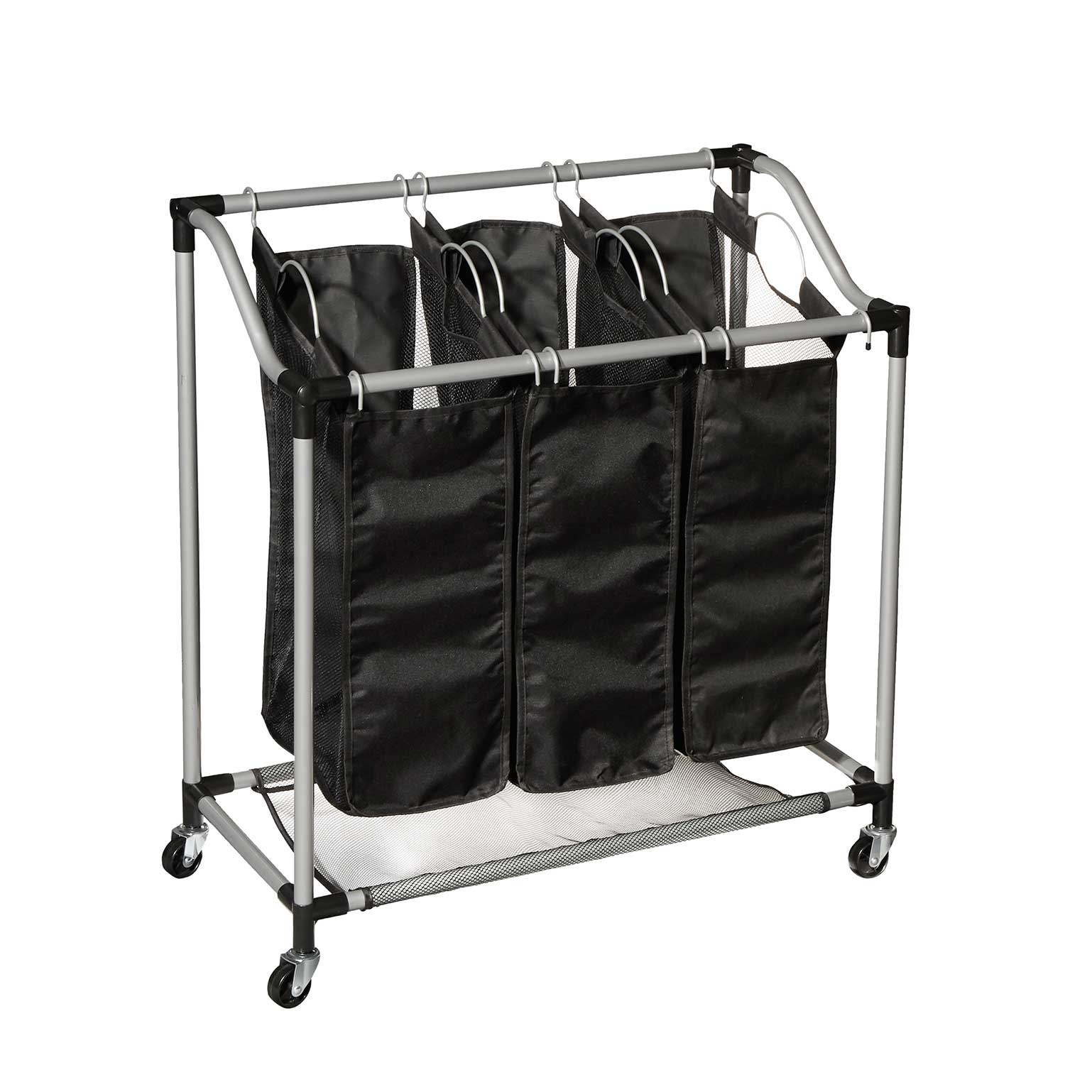 3 Bin Laundry Sorter with Wheels (83100)
