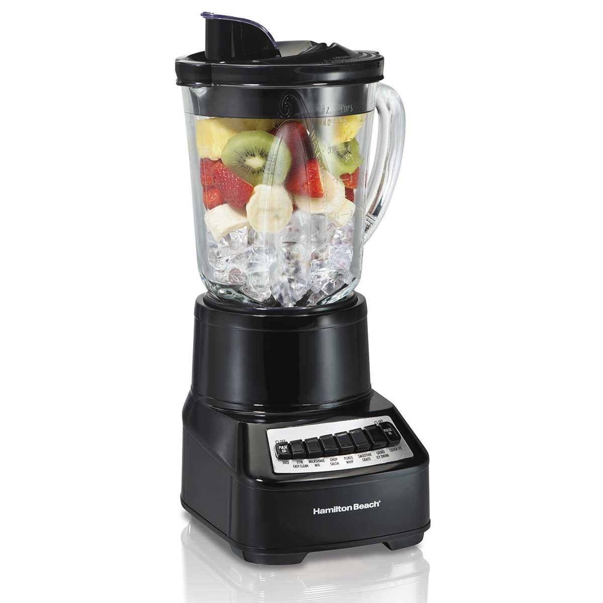 Wave Crusher® Multi-Function Blender with Mess-free 40oz Glass Jar, 700W Black (54220)