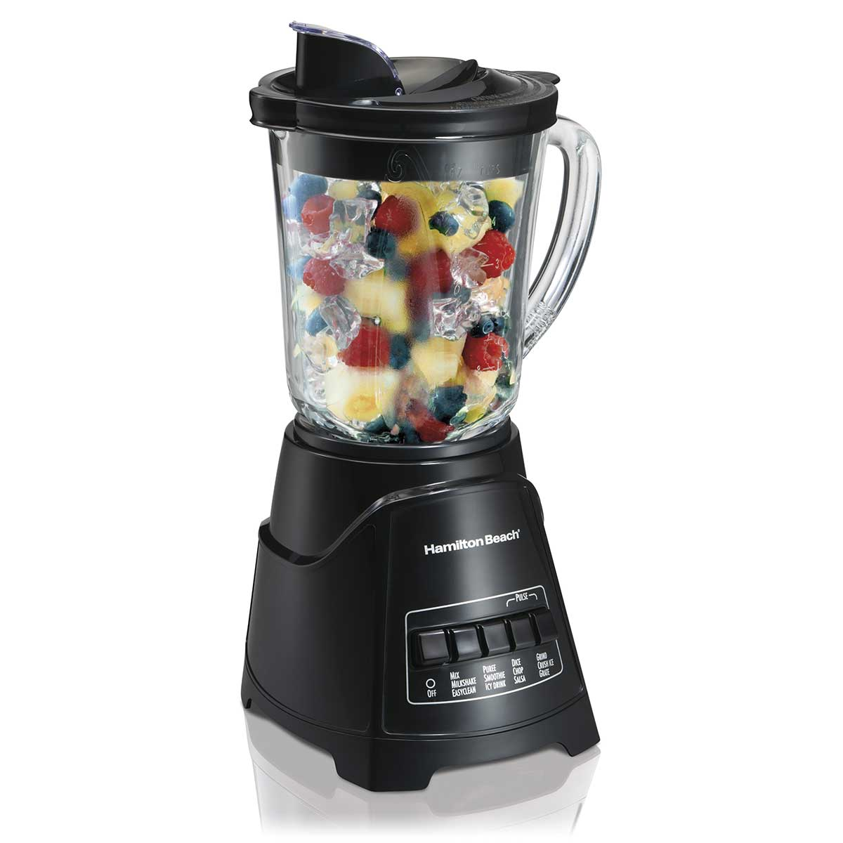 Power Elite Multi-Function Blender with Mess-free 40oz Glass Jar, 700W Black (58146)